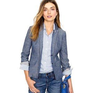 J. Crew Schoolboy blazer in blue Chambray size 2